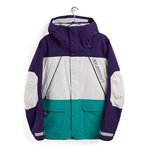 Burton Herren Breach Snowboard Jacke, Parachute Purple/Stout White/Dynasty Green, M