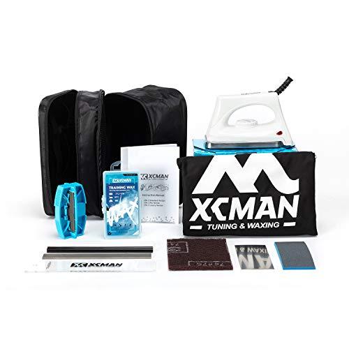 XCMAN Komplettes Ski- und Snowboard-Set mit Wachsbügeleisen, Ski-Wachs, Kanten-Tuner, PTEX für Tuning, Reparatur und Wachsen