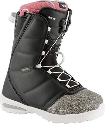 adidas Damen Flora TLS Schneestiefel, Schwarz (schwarz grau pink Schwarz), 38 EU