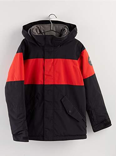 Burton Jungen Symbol Snowboard Jacke, True Black/Flame Scarlet, L