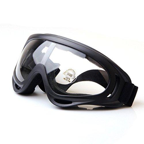 TININNA Winddicht Snowmobile Gletscherbrille Fahrrad Skibrille Schutzbrille Sportbrille Transparent EINWEG Verpackung
