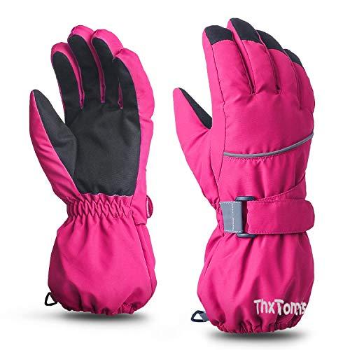 ThxToms Kinder Skihandschuhe, Wasserdicht und Winddicht Winter Warme Handschuhe, für Junge Mädchen Laufen Skifahren Wandern Radfahren Snowboarden