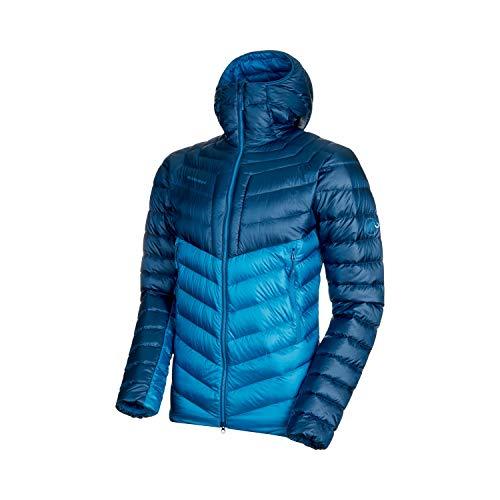 Mammut Broad Peak Hooded Jacke für Herren S Blau / Türkis (Sapphire/Wing teal)