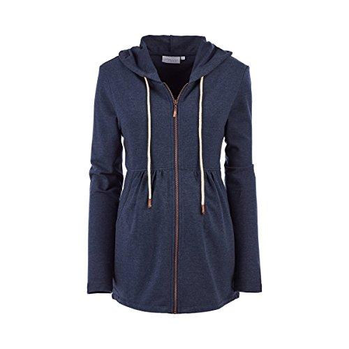 2HEARTS 'We Love Basics Umstands- und Still-Jacke Athleisure blau/Umstandskleidung/Damen Umstandsmode/Schwangerschaftsmode/Jacke für werdende Mamas