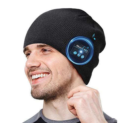 COTOP Geschenke für Männer Bluetooth Mütze Musik Strickmütze Wintermütze Warme Beanie Hut Winter Mützen für Laufen, Draussen, Radfahren, Ski, Joggen Mützen für Damen und Herren