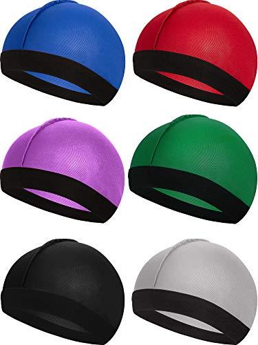 6 Stücke Gummiband Seidige Wellen Kappen für Herren Seidenmaterial für 360 540 und 720 Wellen (Farbe 1)