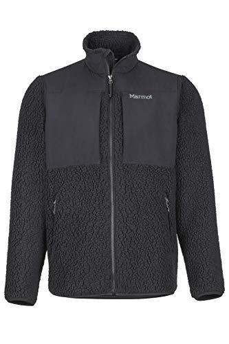 Marmot Herren Fleecejacke Outdoorjacke, Atmungsaktiv Wiley Jacket, Black, M, 84140-001