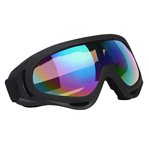 Vicloon Skibrille, 1 Stück Ski Snowboard Brille, UV-Schutz Goggle, Motocross Brille Helmkompatible, Anti-Fog Skibrille, Sportbrille für Skifahren Motorrad Fahrrad Skaten, Unisex