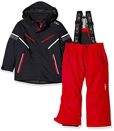 CMP Jungen Skiset Jacke und Hose 39W1844 Set, Antracite, 128(M)