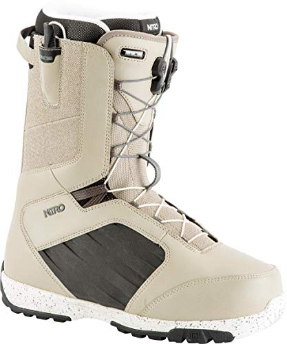 Nitro Snowboards Herren Anthem TLS '19 Leichter Snowboardschuh Snowboardboot mit Schnellschnürsystem Allround Freestyle Freeride Softboot Warm Boots, Stone, 26.5