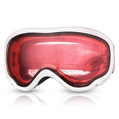Qnlly Skibrille Brille Frauen Schnee Sport Skifahren Brillen Skibrille Für Snowboard UV400 Anti-Fog Doppel Objektiv Tag Nacht Winter Mädchen Snowboarden
