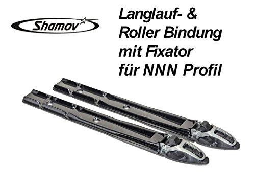Shamov Skibindung Langlaufbindung Rollskibindung mit Fixator für NNN Profil