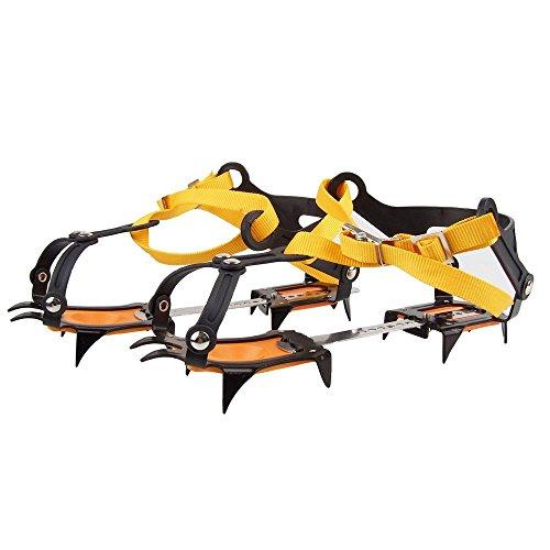 NAMVO 10 Zähne kommt mit Snowboard Schweißen Kette Edelstahl Steigeisen Outdoor Ski Eis Wandern Klettern Verstellbare Länge