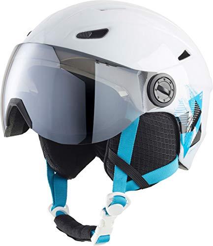 TECNOPRO Kinder Pulse JR S2 Visor HS-016 Ski-helme, White/Turquoise, S