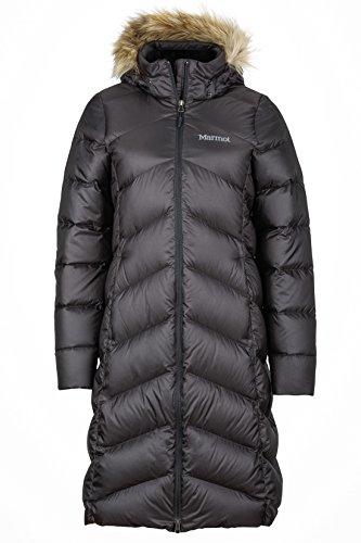 Marmot Damen Leichte Daunenjacke, 700 Fill-Power, Warmer Parka, Wintermantel, Wasserabweisend, Winddicht Wm's Montreaux Coat, Black, XS, 78090