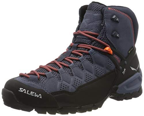 Salewa Herren MS Alp Trainer Mid Gore-TEX Trekking- & Wanderstiefel, Ombre Blue/Fluo Orange, 44.5 EU