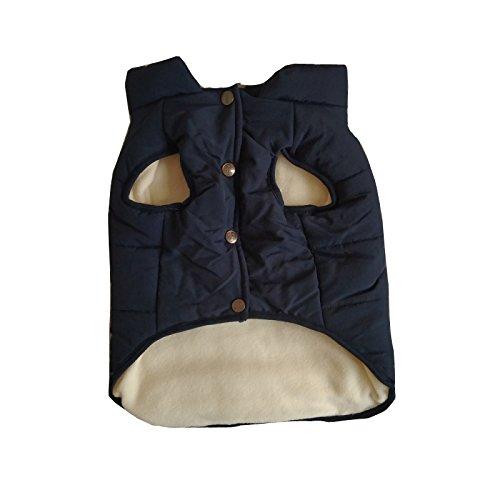 PENVIO Hundekleidung Winter warme Mäntel und Jacken, Hündchen Weste Bekleidung für kleine mittlere große Hunde Feder Kleidung (M, Blau)