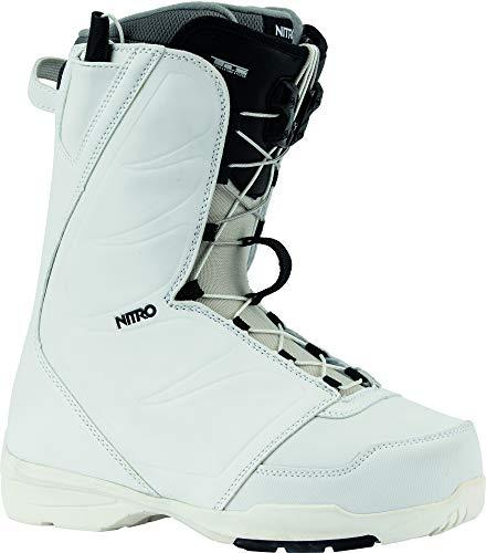 Nitro Snowboards Damen FLORA TLS '20 All Mountain Freestyle Schnellschnürsystem günstig Boot Snowboardboot, 26.0, WHITE