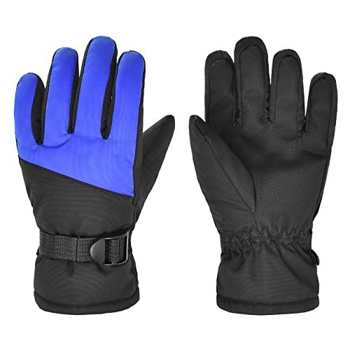 Skihandschuhe für Kinder wasserdichte Winddichte Winterhandschuhe Warm Sporthandschuhe Snowboard Handschuhe für Outdoor Sport in Winter Fahrradhandschuhe Schneehandschuhe, Adventskalender 2021