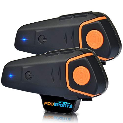 Motorrad Kommunikation System,BT-S2 1000M Motorrad Helm Intercom und Bluetooth Freisprechanlage Gegensprechanlage Walkie Talkie for Motorrad,Ski und Radfahren(2 Stück/2-3 Riders)