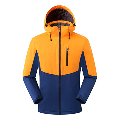 Amazon Marke: Eono Essentials Herren Skijacke, Orange, M