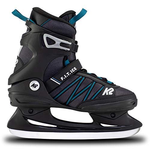 K2 Skates Herren Schlittschuhe F.I.T. Ice — Black - Blue — EU: 38 (UK: 5 / US: 6) — 25E0030