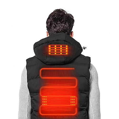 Ritapreaty Elektrisch beheizte Weste für Damen und Herren, USB-beheizte Weste Leichte waschbare Kleidung für Motorrad-Schneemobile, Fahrradfahren, Jagd, Golf