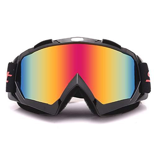 Poseca Winter Ski Snowboard Brille, Motorrad Racing Brillen Motocross Off-Road Bike ATV Googles Ski Snowboard Brille Für Männer Frauen Bunte Linse, Winddicht, Anti-Fog, Anti UV