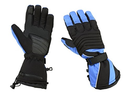 Hugger Glove Herren Textilhandschuh, 200 Gramm Isolierung, Schneemobil-Handschuhe, Skihandschuhe oder Motorradhandschuhe - Schwarz - XX-Large