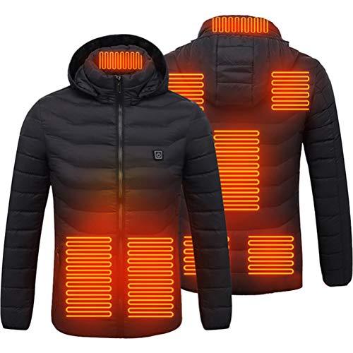 SHARRA Beheizte Jacken Herren Elektrische Heizjacke Wasserdicht Winddicht Beheizte Jacke mit 3 Temperatur Winter Warming Jacket für Wandern, Skifahren, Arbeiten im Freien