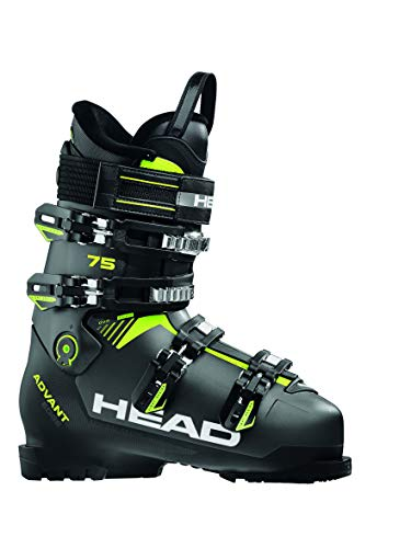 HEAD Herren Advant Edge 75 Skischuhe, Anthracite/Black/Yellow, 275
