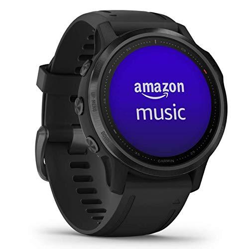 Garmin fenix 6S PRO - schlanke GPS-Multisport-Smartwatch mit Sport-Apps, 1,2' Display und Herzfrequenzmessung am Handgelenk. Musikplayer, Karten, WLAN und Garmin Pay. Wasserdicht, bis 9 Tage Akku