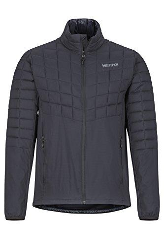 Marmot Herren Ultra-leichte Isolierte Winterjacke, Warme Outdoorjacke, Wasserabweisend, Winddicht Featherless Hybrid, Black, L, 74000