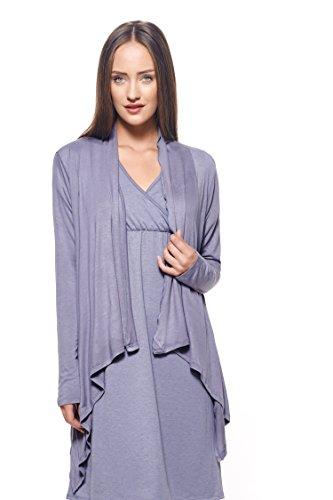 Eve Alexander Damen Umstandsjacke für Damen, leicht - Grau - Groß