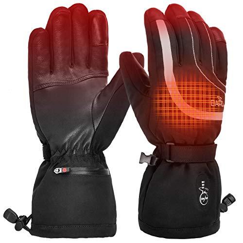 BARCHI HEAT 7.4V 2200MAH Stripes beheizte Handschuhe, wiederaufladbare elektrische Handschuhe,Handwärmer für Schneetreiben Skifahren Eislaufen Motorradfahren