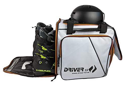 Driver13  Skistiefelrucksack mit Helmfach + Skischuhrucksack mit Helmfach für Hart + Snowboard Boot + Inliner + Bootbag Tasche weiß (Germany Edition)