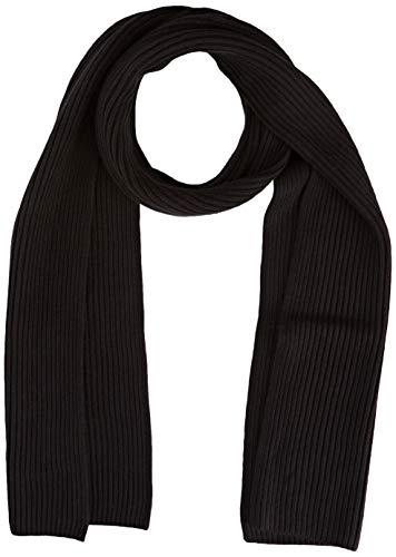 Tommy Hilfiger Herren Pima Cotton Scarf Winter-Schal, Black, Einheitsgröße