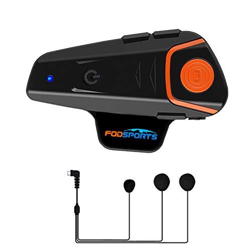 Motorrad Kommunikation System,BT-S2 1000M Motorrad Helm Intercom Bluetooth Gegensprechanlage WalkieTalkie for Motorrad Ski und Radfahren(1Stück/2-3 Riders/Weiches Kabel)