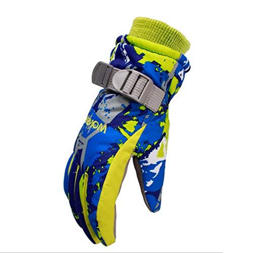 ClookYuan Kinder Jungen Mädchen Ski Handschuhe Snowboard Handschuhe Schneemobil Skifahren Reiten Winter Handschuhe Winddicht Wasserdichte Schnee Handschuhe