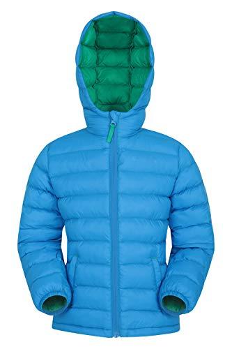 Mountain Warehouse Seasons Gepolsterte Jacke für Kinder, geeignet für alle Jahreszeiten - wasserdichte Winterjacke, leicht & warm Blau 2-3 Jahre