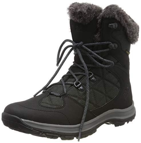Jack Wolfskin Damen Thunder Bay Texapore Mid W Wasserdicht Trekking-& Wanderstiefel, Schwarz (Phantom/ Grey 6364) 39 EU
