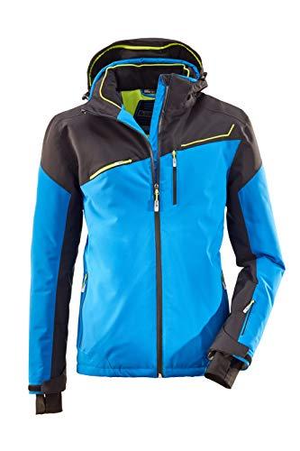 killtec Skijacke Herren Den - Snowboardjacke Herren mit Schneefang - wasserdichte Jacke mit Skipasstasche - atmungsaktiv, himmelblau, XL