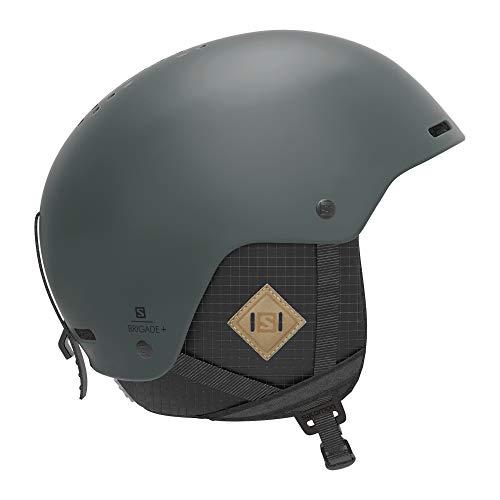 Salomon Herren Ski- und Snowboardhelm, ABS-Schale, SMART-Technologie, Größe XL, Kopfumfang 62-64 cm, Brigade+, grun (Green Gables), L40836000