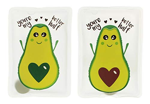MIK Funshopping Handwärmer Taschenwärmer Sets (2er-Set Kawaii Avocados - You're My Better Half)