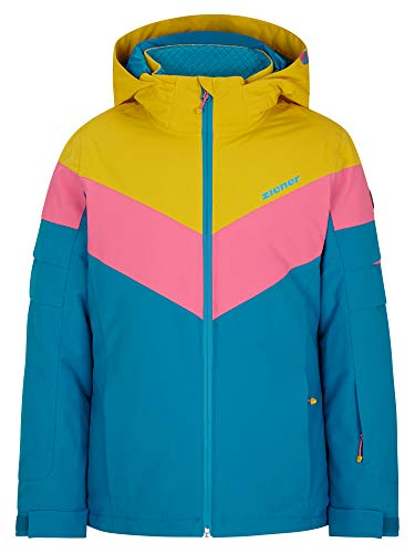 Ziener Mädchen ALJA Junior Kinder Skijacke, Winterjacke | Wasserdicht, Winddicht, Warm, Steel Blue, 104