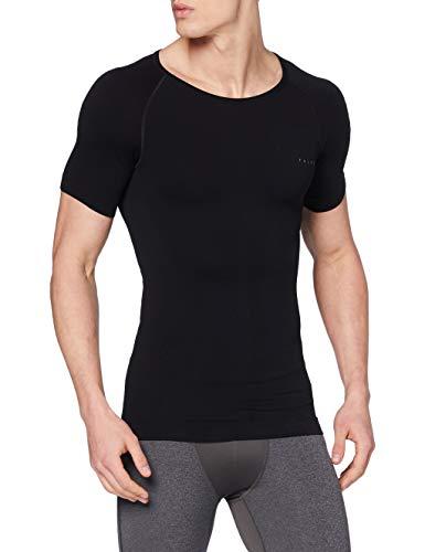 FALKE Herren Warm Tight Fit M S/S SH Baselayer-Shirt, Schwarz (Black 3000), M