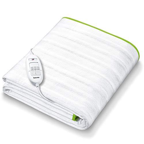 Beurer TS 15 Wärmeunterbett   mit Sicherheitsautomatik aus weichem Vlies und mit 3 Temperaturstufen   einfache Fixierung auf Bett und Matratze   waschbar bei 30⁰   150 x 80 cm