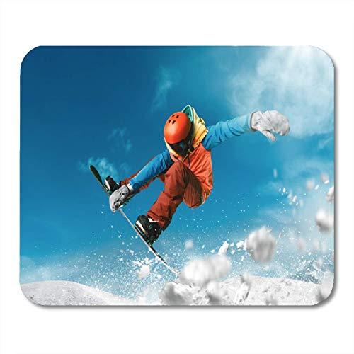 Mauspads Extreme Snowboard Sport Mountain Snow Snowboard Freestyle Winter Mauspad für Notebooks, Desktop-Computer Matten Büromaterial