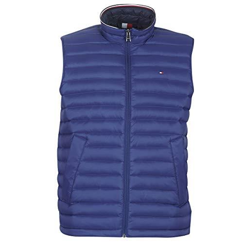 Tommy Hilfiger Herren Packable DOWN Vest Jacke, Blau (Sodalite Blue 493), Large (Herstellergröße:L)