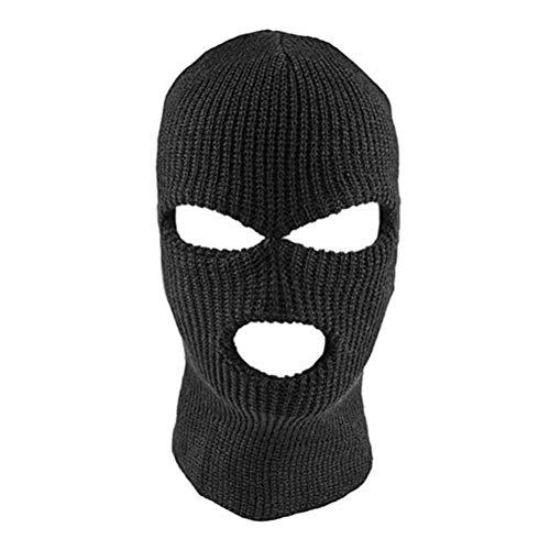 Gmuret 3 Loch Skimaske, Multifunktionen Gesichtsmaske Erwachsene Winter Outdoor-Sport Sturmhaube